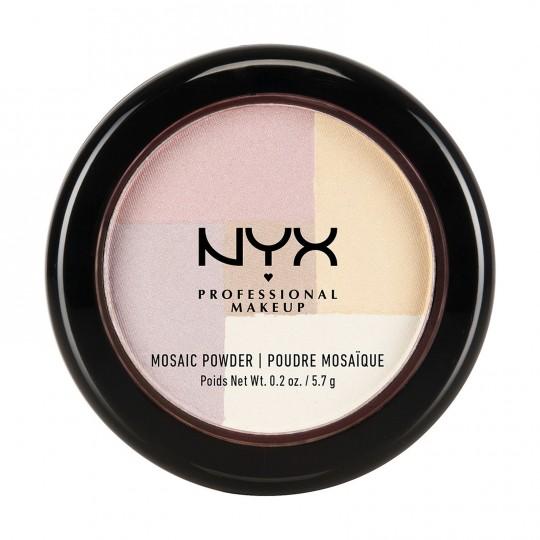 NYX Mosaic Powder Blush - 01 Highlighter (Shimmering Pearl)